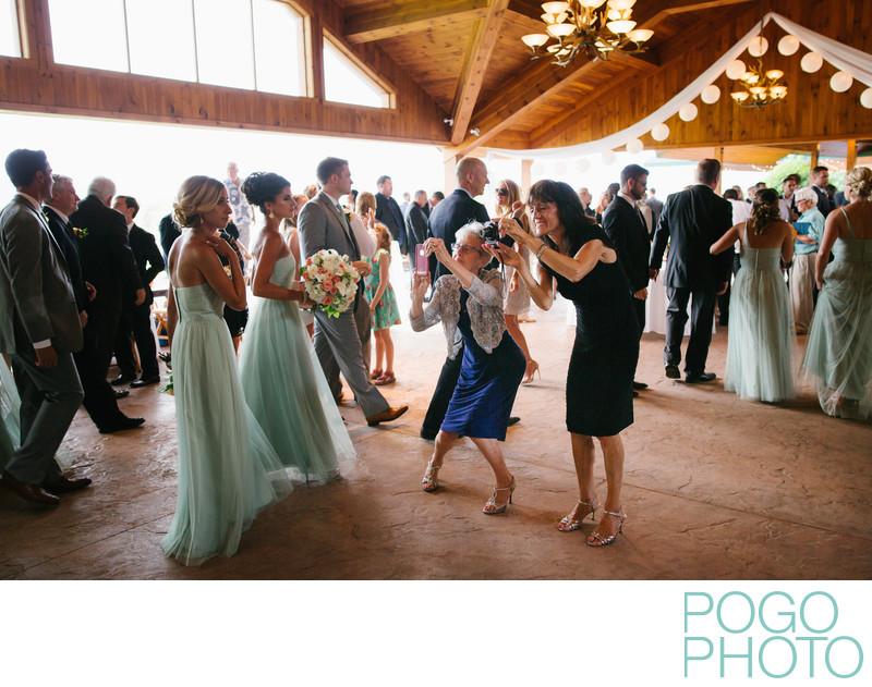 Enthusiastic Wedding Guests at Lake Placid Club, NY