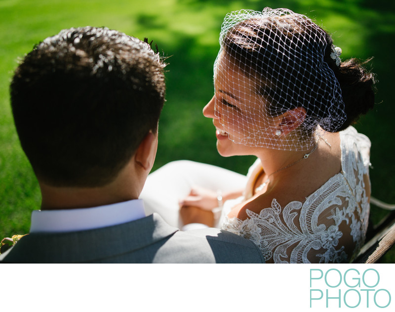 Sunny Southern Vermont Bride with Birdcage Veil