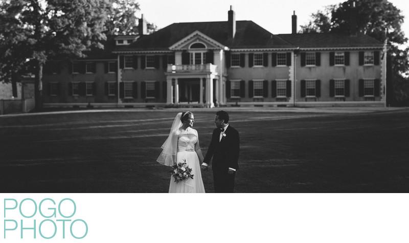 Hildene Vermont Wedding in Black and White