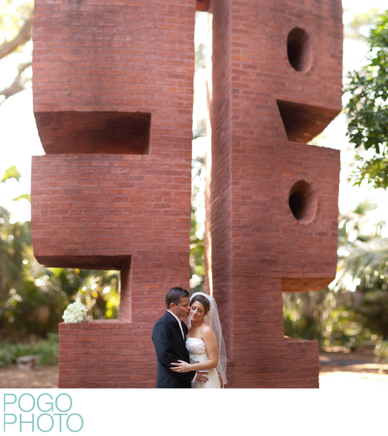 Wedding portraits at Ann Norton Sculpture Gardens