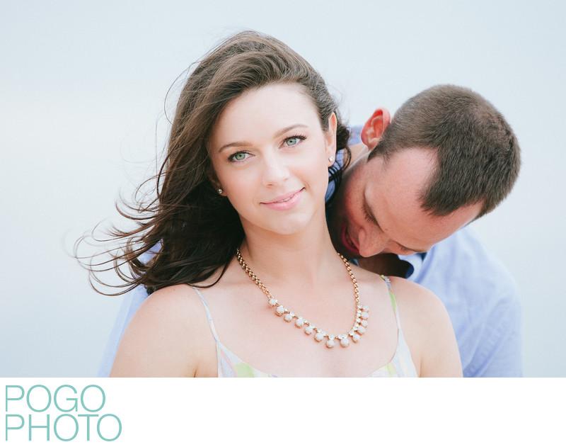 Striking beach engagement portraits on Singer Island
