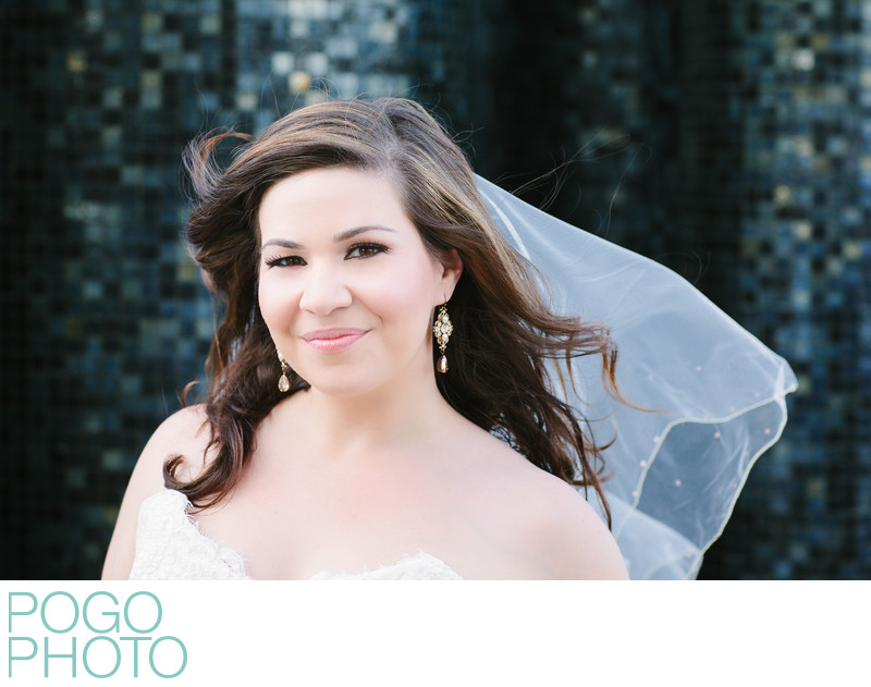Bridal portrait at the Eden Roc Hotel, Miami Beach