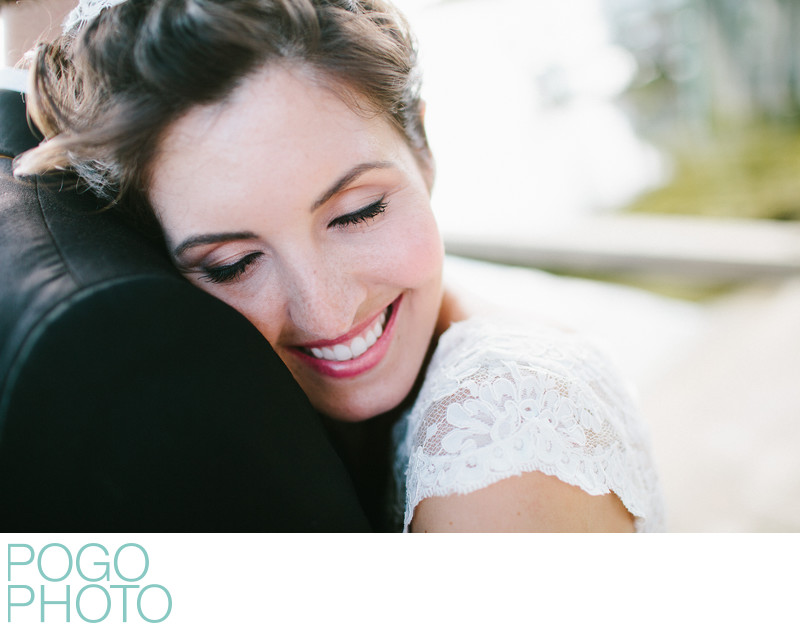 Beautiful bride with natural makeup by Vivian Infantino