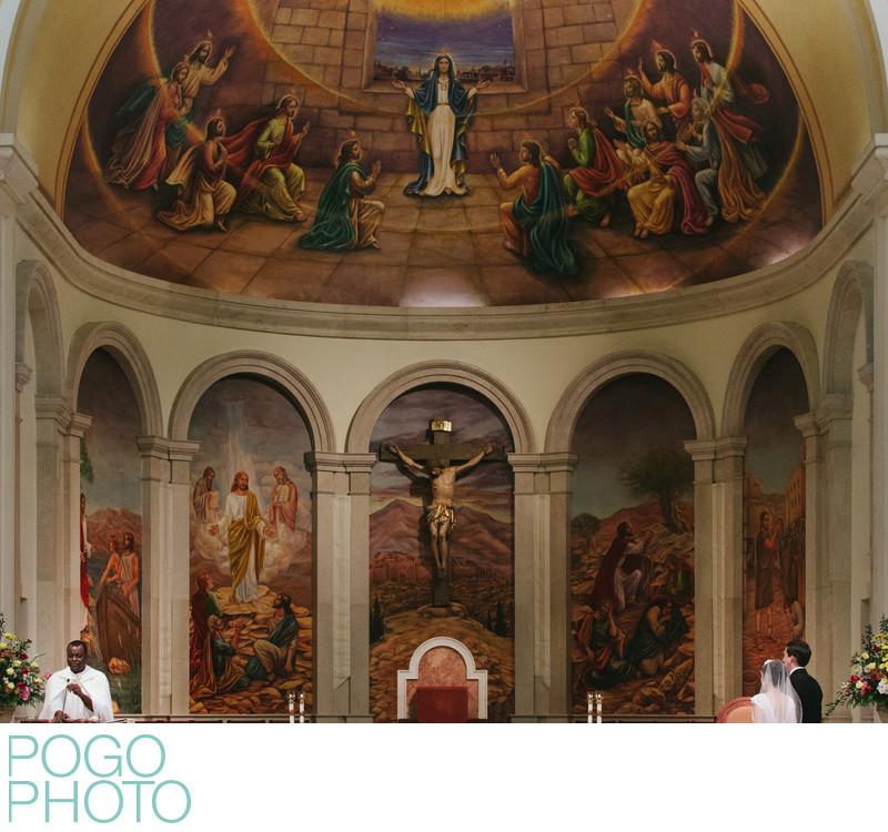 Wedding photographer for Catholic Orlando ceremony