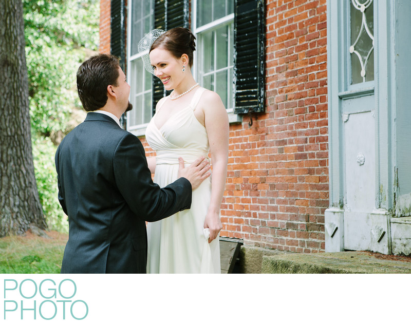 The Pogo Wedding: ear splitting grins during First Look