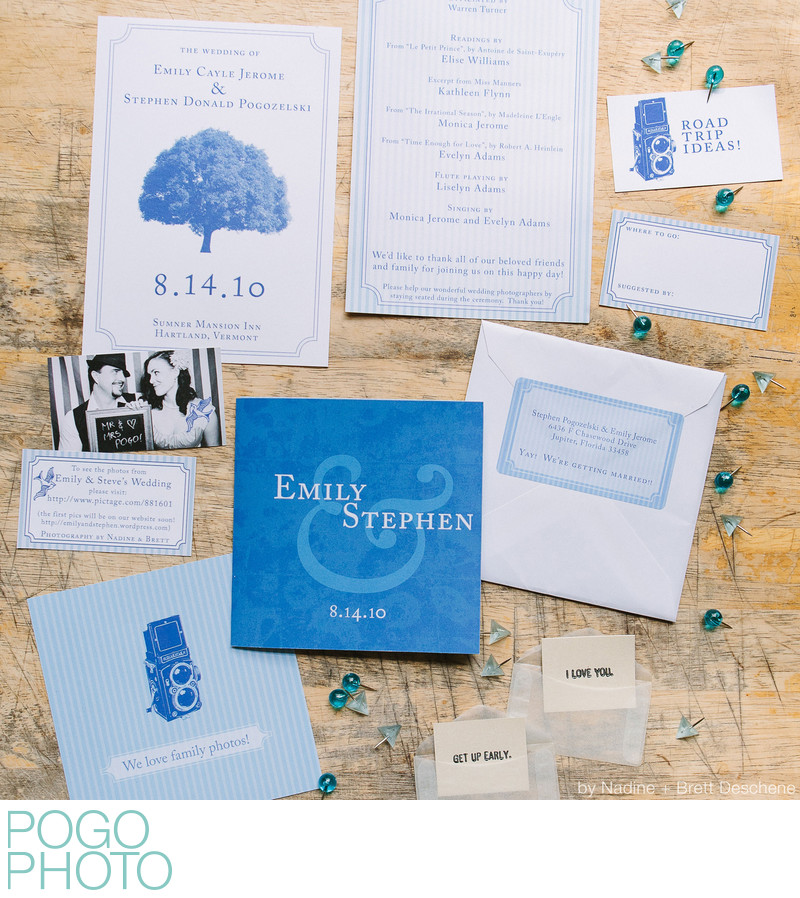 The Pogo Wedding: DIY invitation paper suite