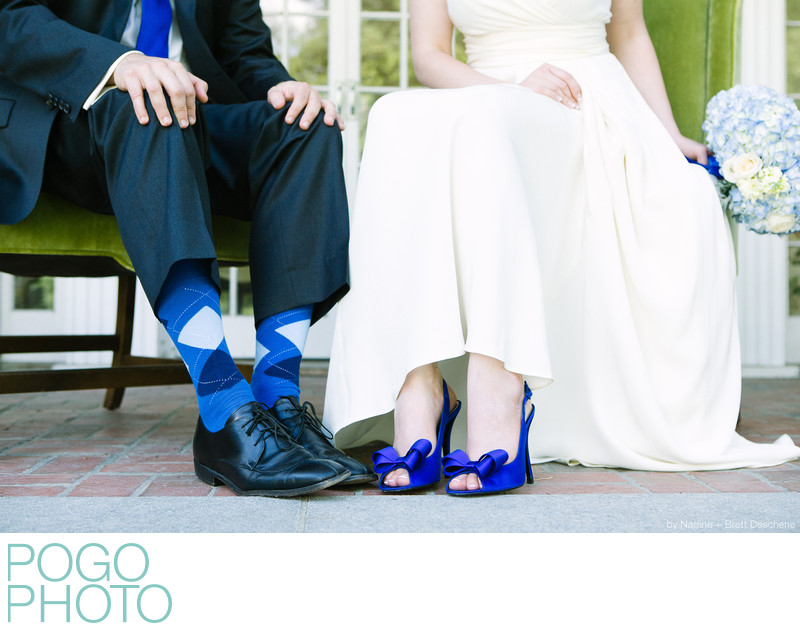 The Pogo Wedding: blue shoes and socks, everything blue