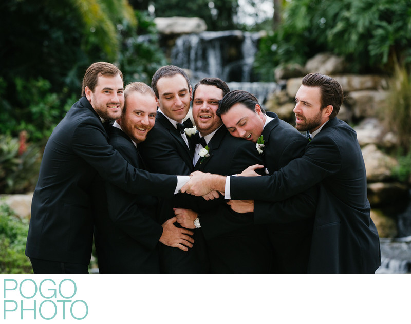 Humorous Groomsmen Formal Photo at Old Palm Golf Club