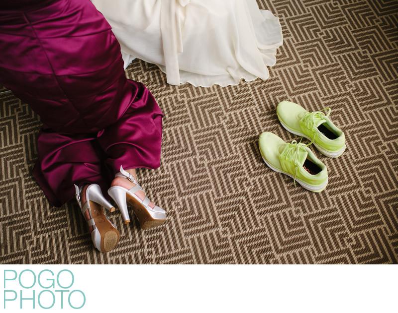 Running Sneakers as Wedding Shoes in Boca Raton Florida