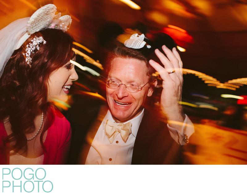 Late Night Wedding Photo on Disney World Orlando Ride