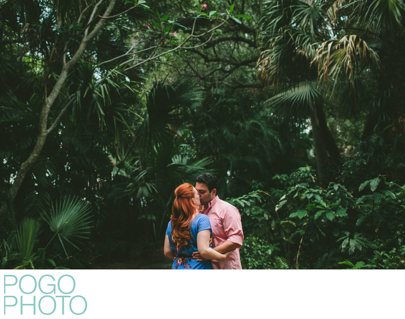 South Florida Engagement Photos with Historic Palms