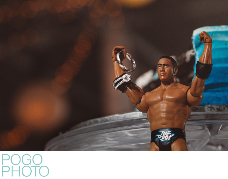 Quirky Detail Photo of Rings and The Rock Action Figure