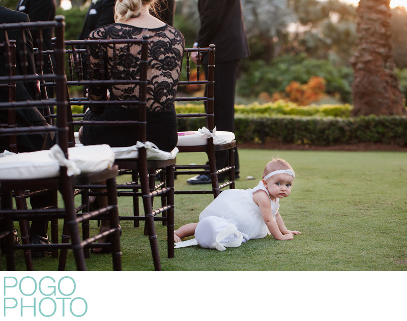 Baby Flower Girl Crawls Away From Sunset Ceremony in FL
