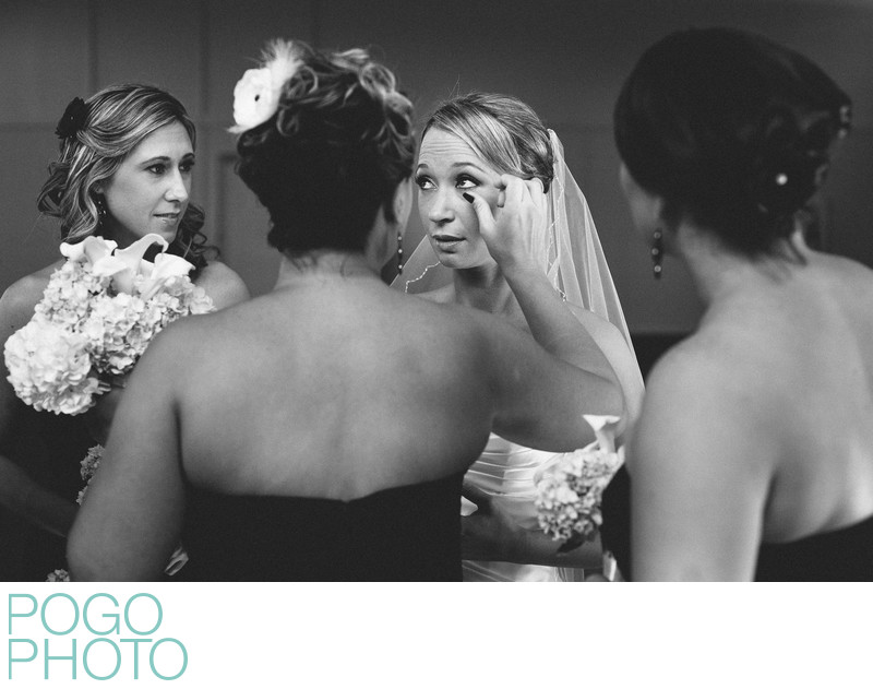 Attentive Bridesmaids Catch Bride's Emotional Tears