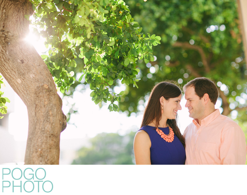 Sunny Downtown West Palm Beach Engagement Photography