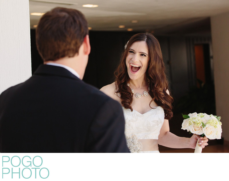 Bride's Ecstatic Reaction at South Florida First Look