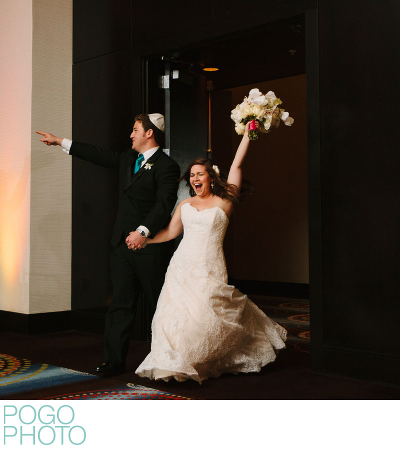 Eden Roc Wedding Reception's Enthusiastic Entrance