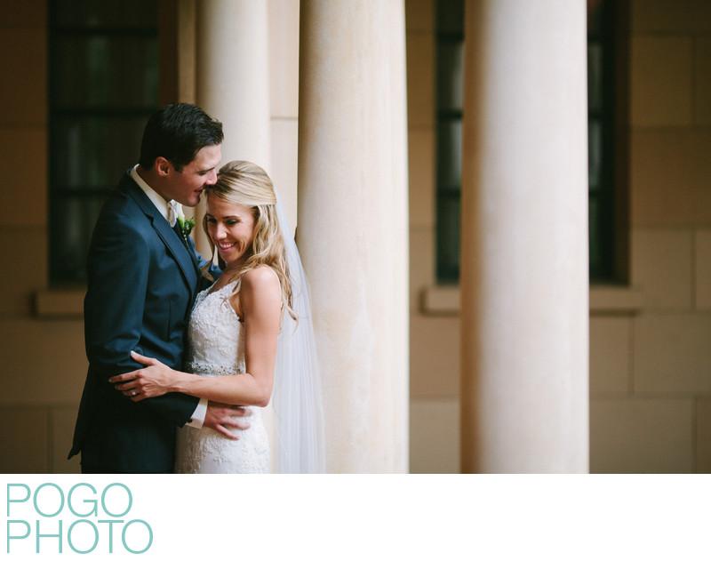 St Edward Catholic Church Romantic Wedding Portraits
