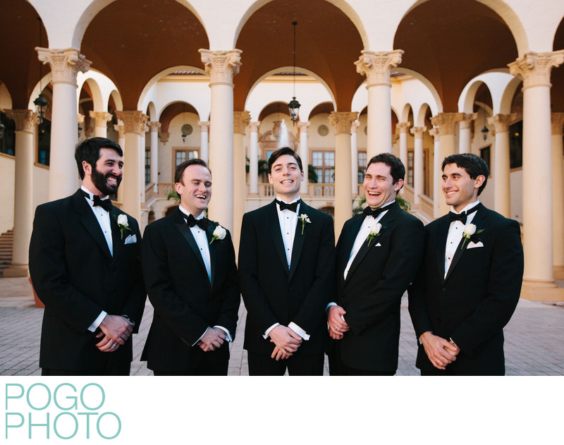 Biltmore Coral Gables Outdoor Groom and Groomsmen Photo
