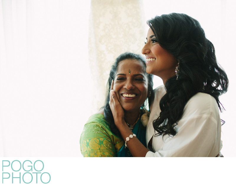 Sweet Moment Between Bride and Mom in West Palm Beach
