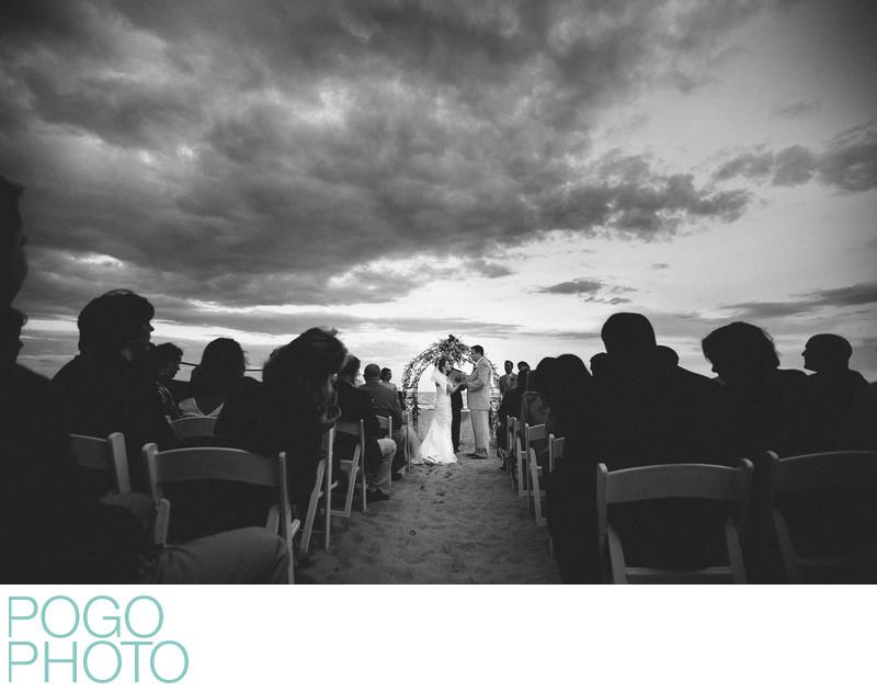 Dramatic Stormy South Florida Beach Wedding Ceremony