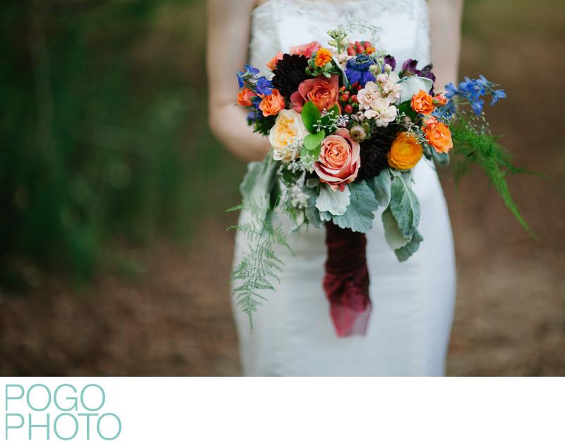 Sumptuous Jewel Toned Bridal Bouquet, Atlanta Georgia