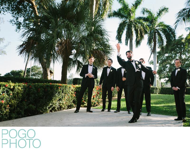 Biltmore Coral Gables Wedding Prep Groom Plays Bocci