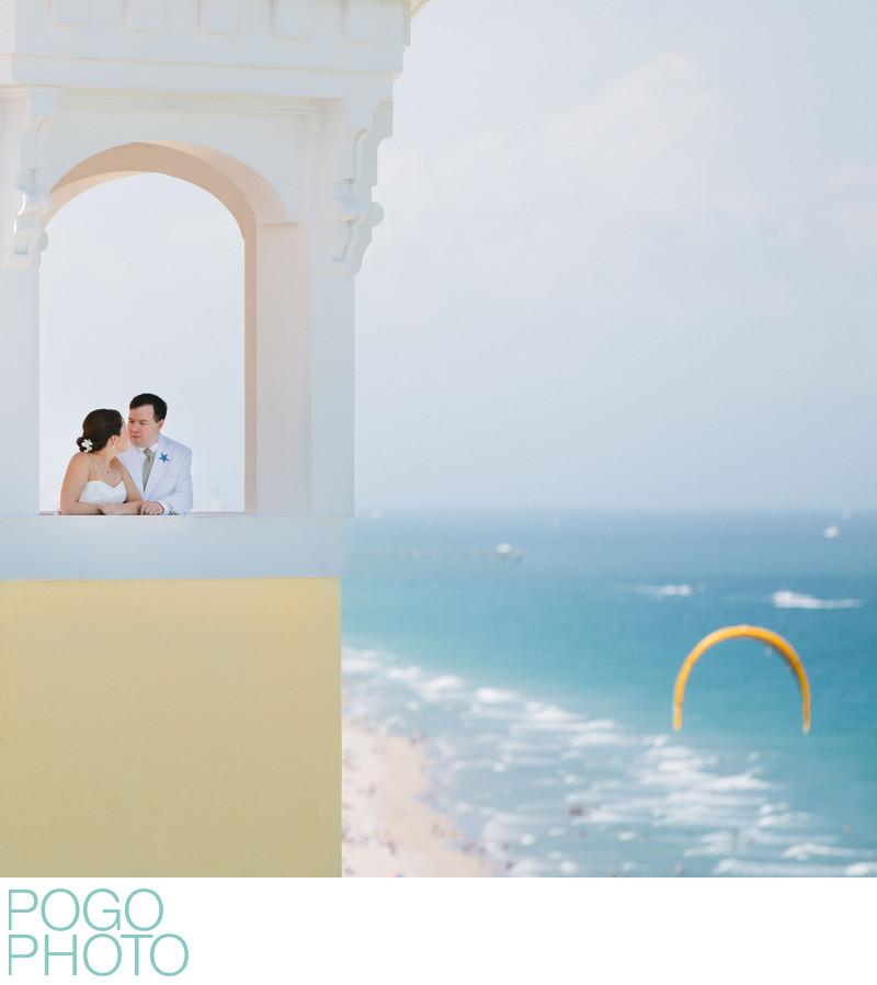 Pelican Grand Beach Resort FTL Wedding With Kitesurfer