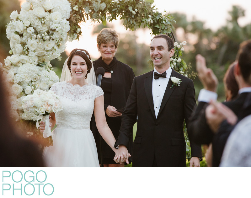 Elegant South Florida Bride and Elated Jupiter Groom