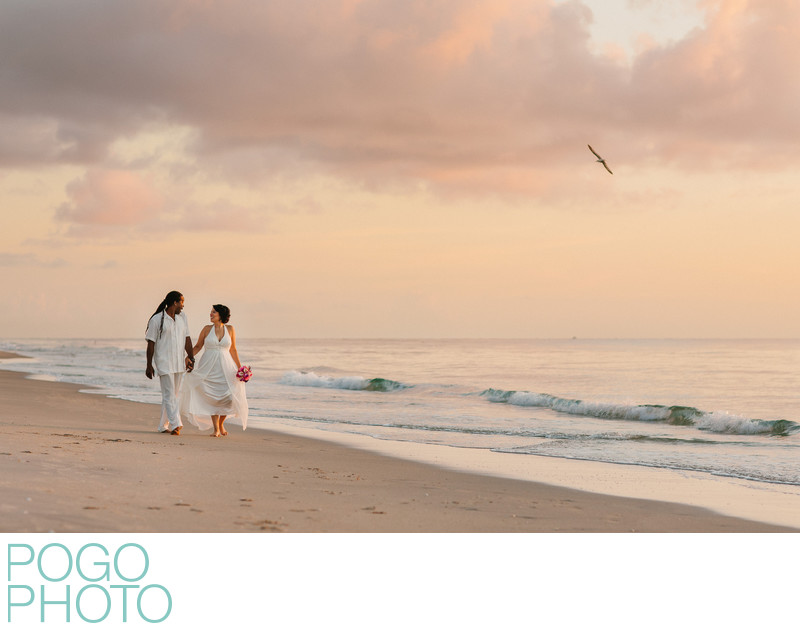South Florida Elopement Photography on Beach at Sunrise