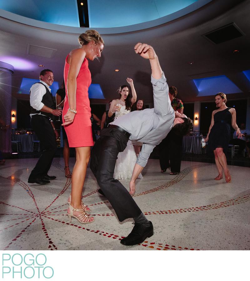 Athletic Dance Floor Moves as Bride Cheers at Pier 66