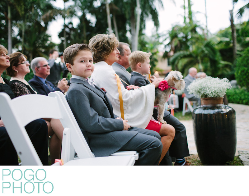 Well Behaved Children and Dog Witness Wedding Nuptials