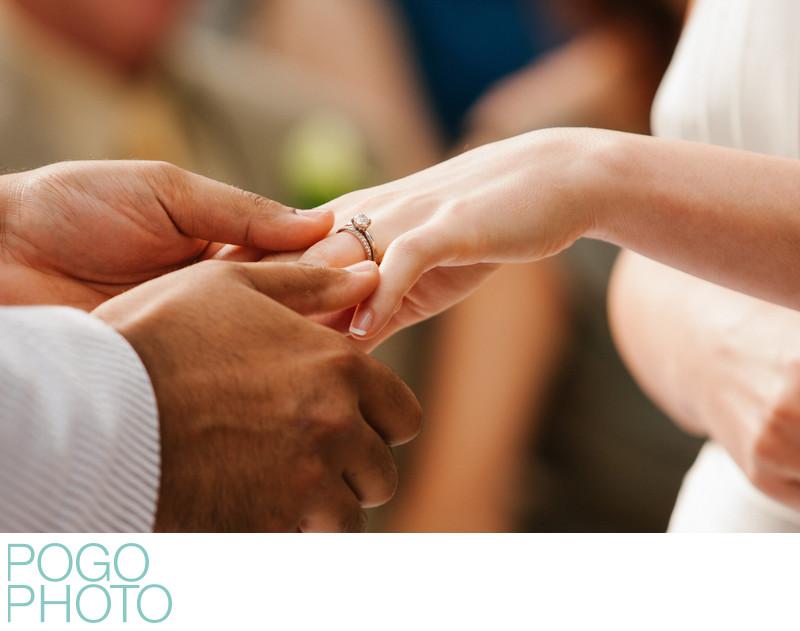 Gentle Hands Exchange Rings at Jupiter Florida Wedding