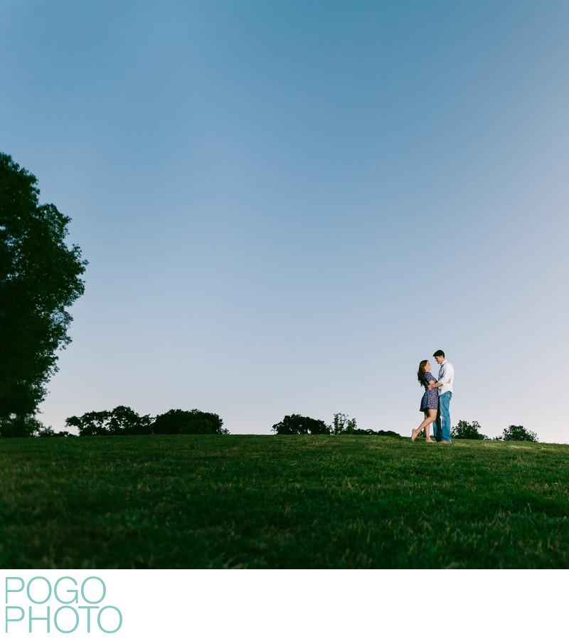 Piedmont Park Atlanta GA Engagement Photography at Dusk