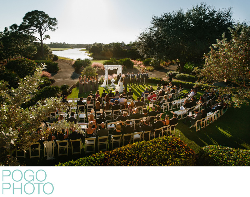 Scenic View of Outdoor Wedding Ceremony at Florida Club