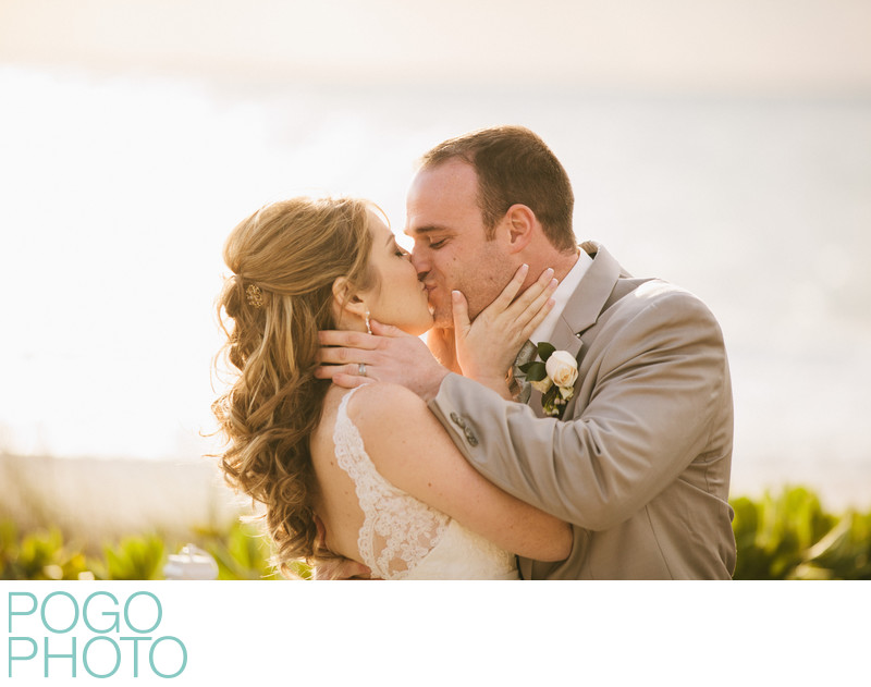 Naples Wedding Photographers Capture Perfect First Kiss