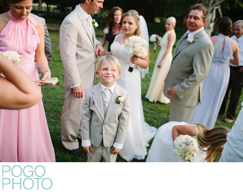 Florida Farm Wedding with Pastel Dresses & Khaki Suits