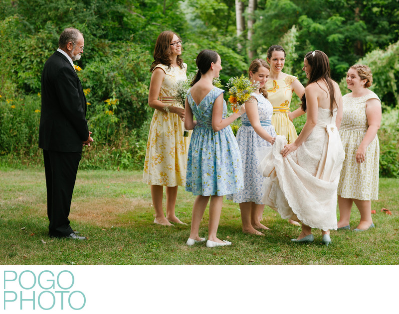 Vermont Photographer Captures Rustic Bridesmaid Dresses