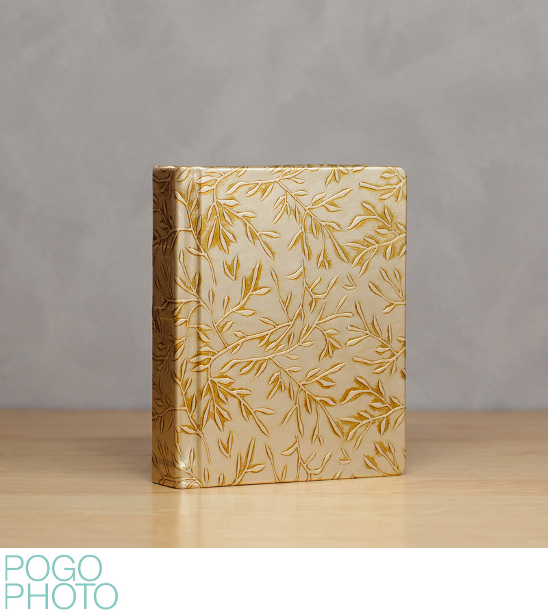 Pogo Photo Signature Album with Goddess Gold Leather