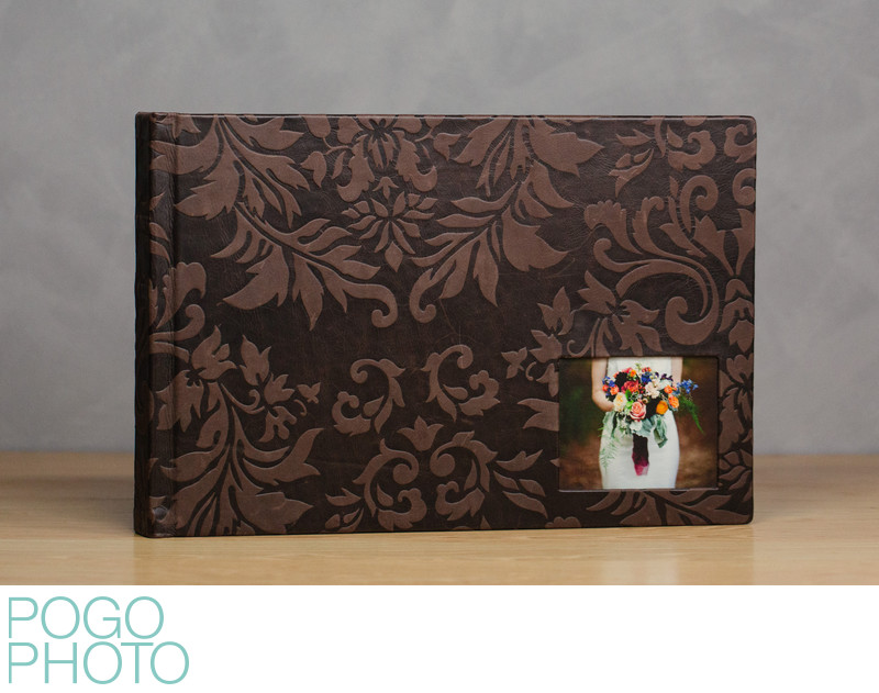 Pogo Photo Signature Album w/ Truffle Embossed Leather