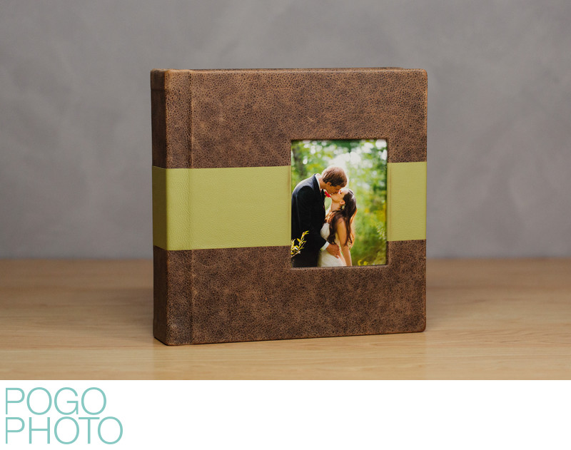 Pogo Photo Signature Album with Bomber Jacket Leather