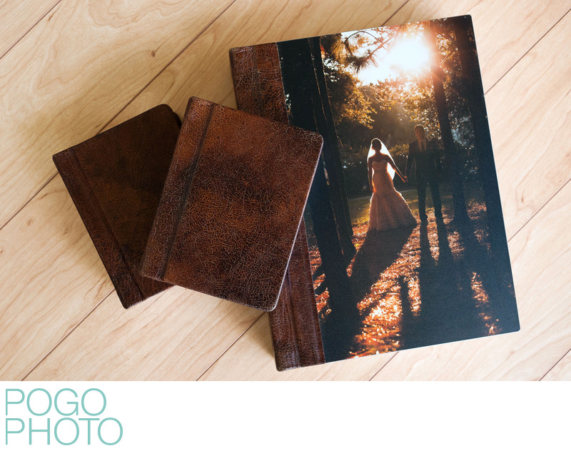 Pogo Photo Leather Signature Album & Two Parent Albums
