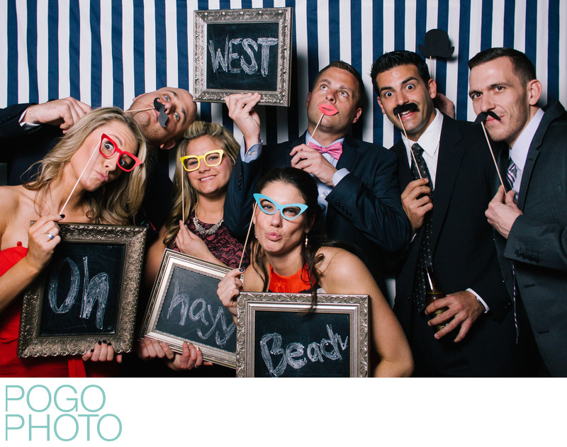 PogoBooth Photo Booth with Large Group and Chalkboards