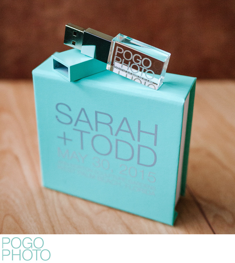 Custom Crystal USB Drive and Case from Pogo Photo