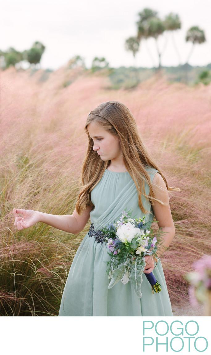 Tween bridesmaid at Jupiter Country Club wedding