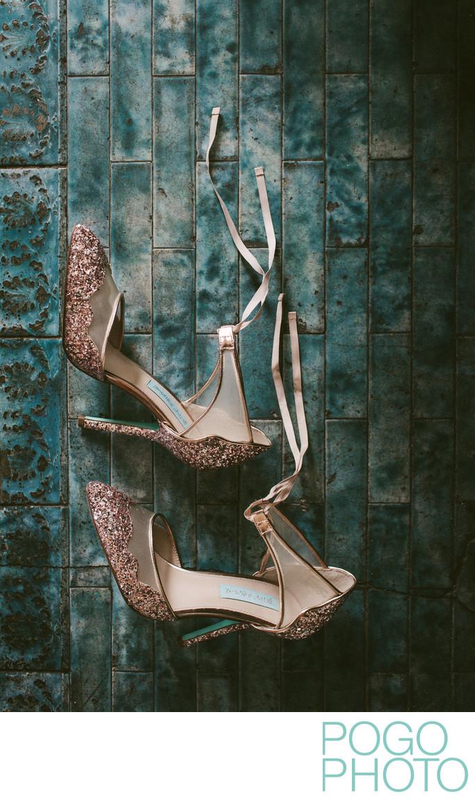 Betsey Johnson Stela Glitter Wedding Shoes Detail Photo