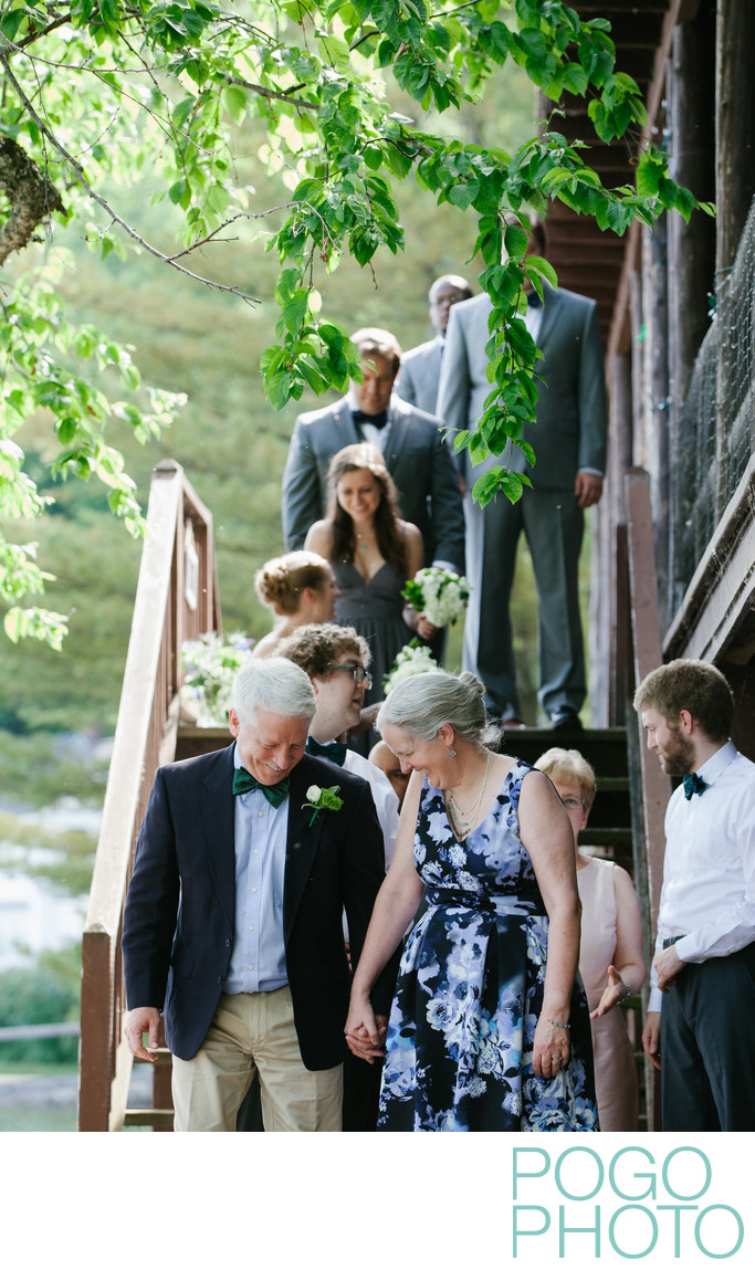 Summery Outdoor Wedding Ceremony at VT Rustic Cabin