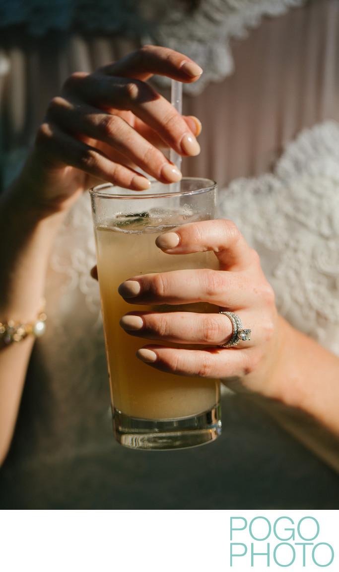 Refreshing cocktail hour at Basin Harbor Club Wedding