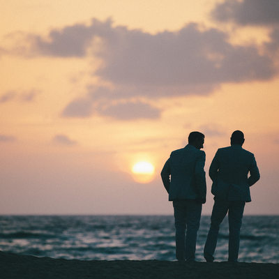 Sunrise Gay Wedding Portraits in Palm Beach