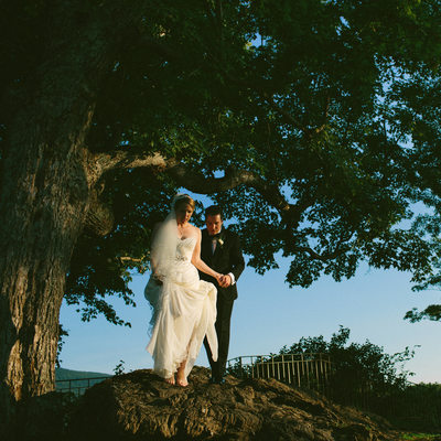 Painterly Maxfield Parrish Inspired Wedding Portrait